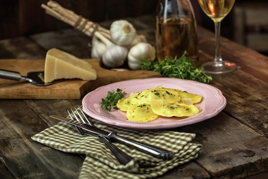 Ravioli Pasta Photograph by Gmvozd