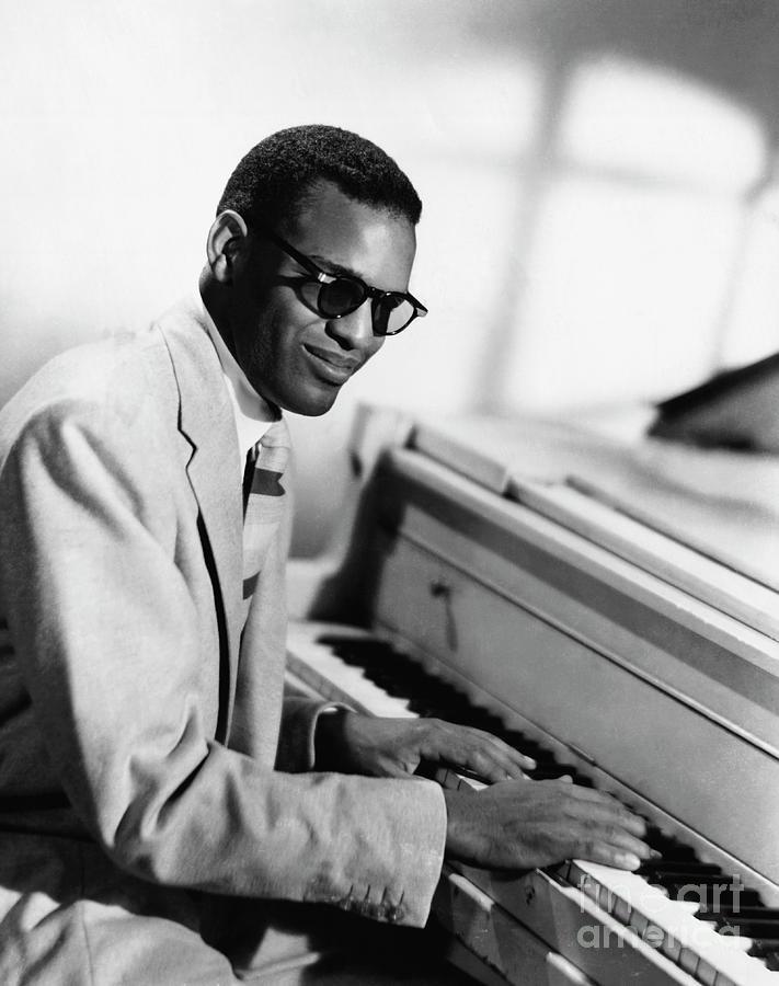 Ray Charles At Piano Photograph by Bettmann