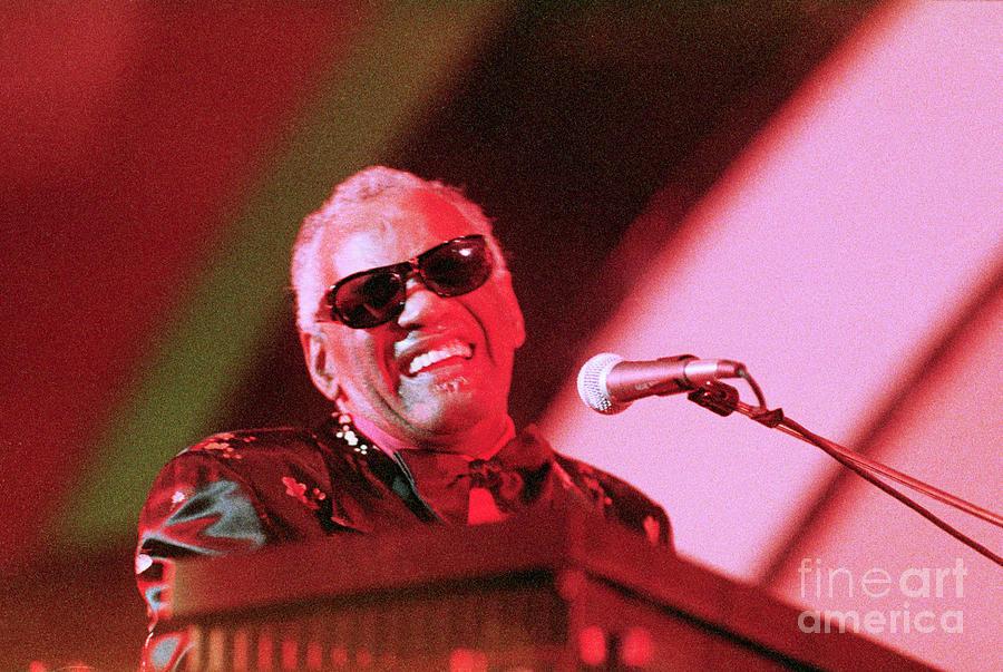 Ray Charles Closes Playboy Jazz Festival Photograph by Bettmann