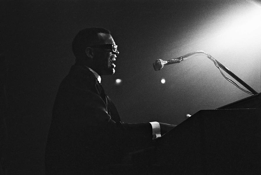 Ray Charles In Paris, France In 1961 - Photograph by Herve Gloaguen