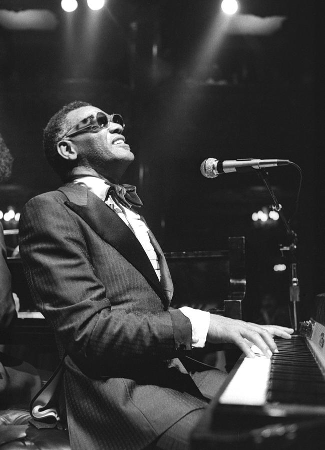 Ray Charles Performing Photograph by Tom Copi