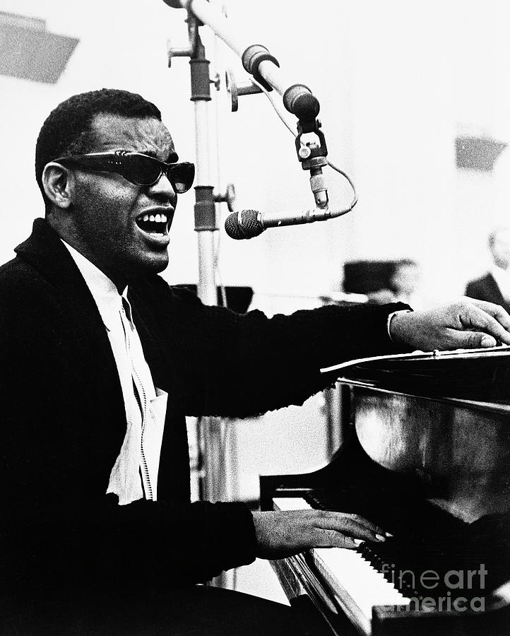 Ray Charles Singing At The Piano Photograph by Bettmann