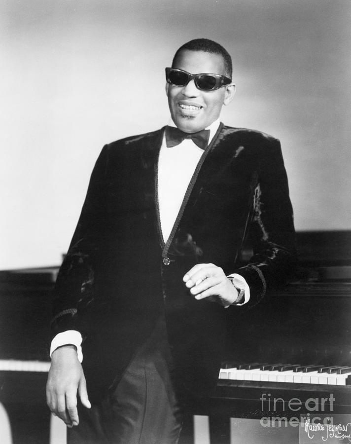 Ray Charles Standing By His Piano Photograph by Bettmann