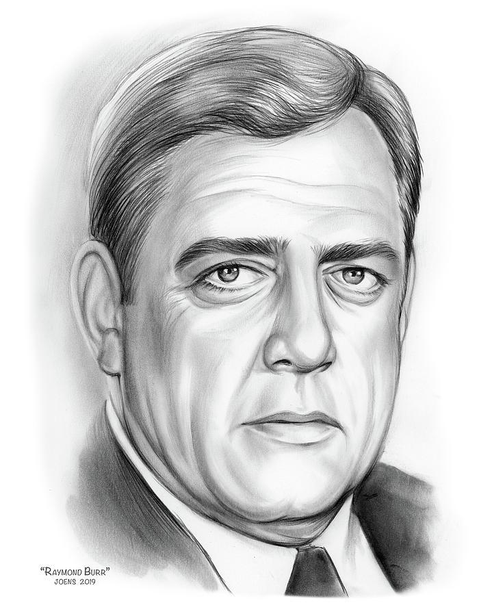 Raymond Burr Drawing