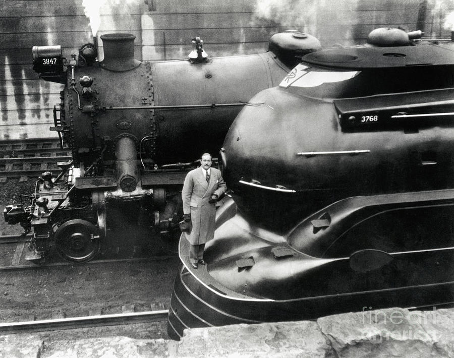 Raymond Loewy With Latest Locomotive Photograph by Bettmann
