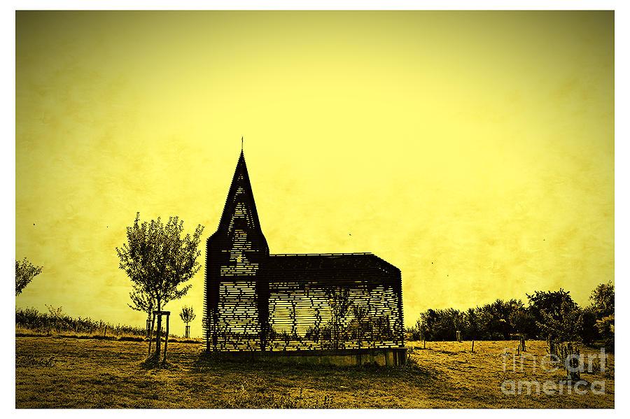 Church Digital Art - Reading Between the Lines by Jurgen Huibers