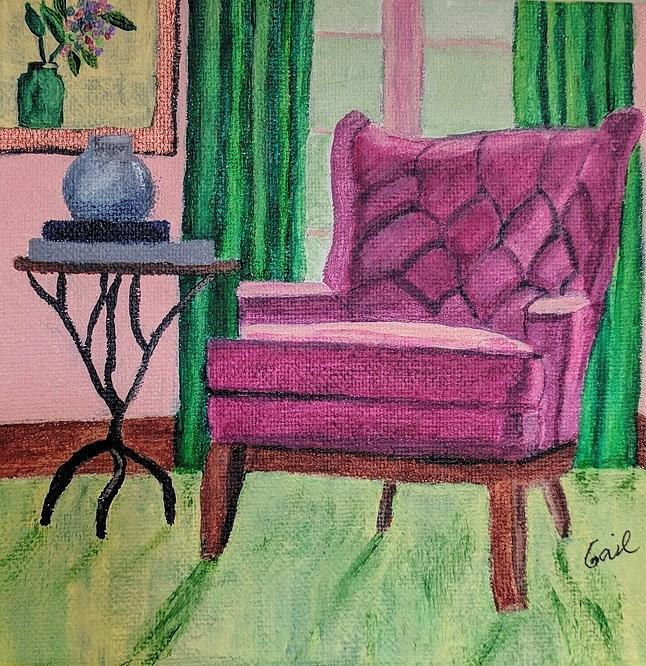 Reading Chair1 by Gail Friedman