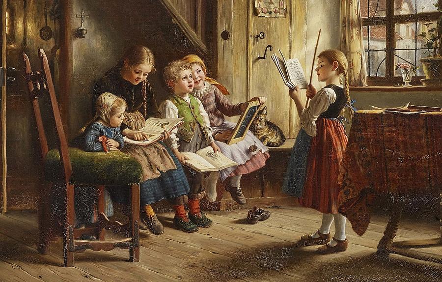 Reading Lesson  by Johann Wilhelm Schuetze