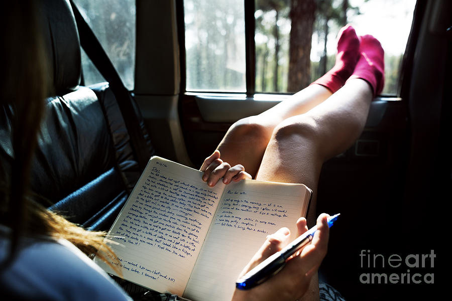 Camping Photograph - Reading Study Camping Car Hobby Concept by Rawpixel.com