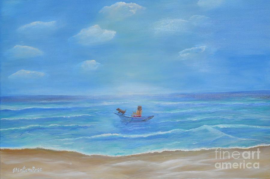 Ocean Painting - Ready Captain by Sabine ShintaraRose