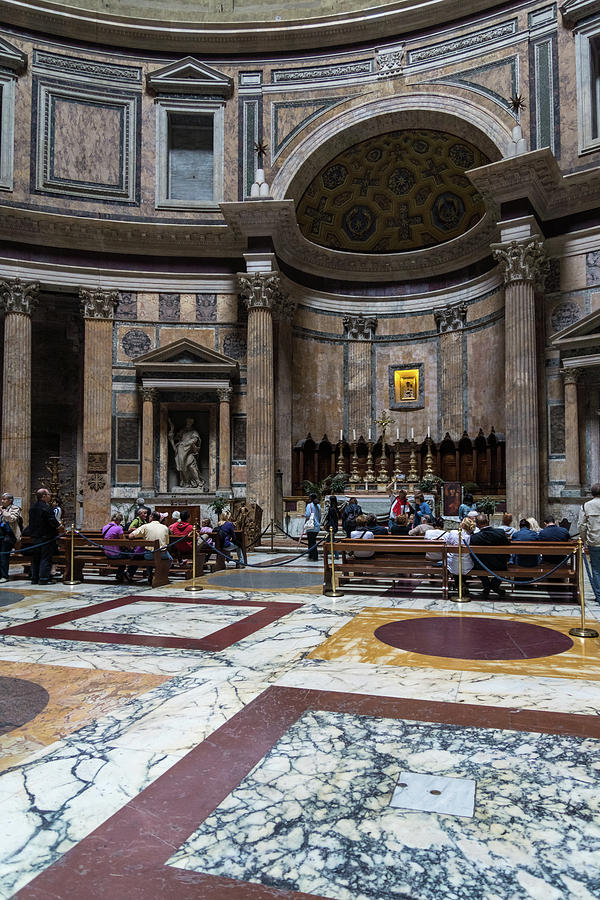 Ready for Rain - Cordoned Off Pantheon Interior with the Altar by Georgia Mizuleva