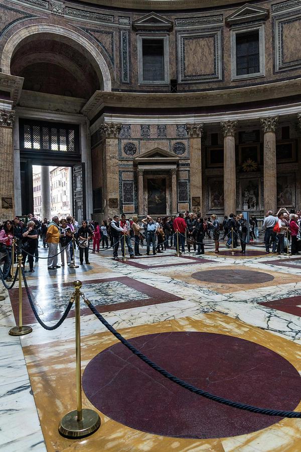 Ready for Rain - The Pantheon Interior Cordoned Off by Georgia Mizuleva