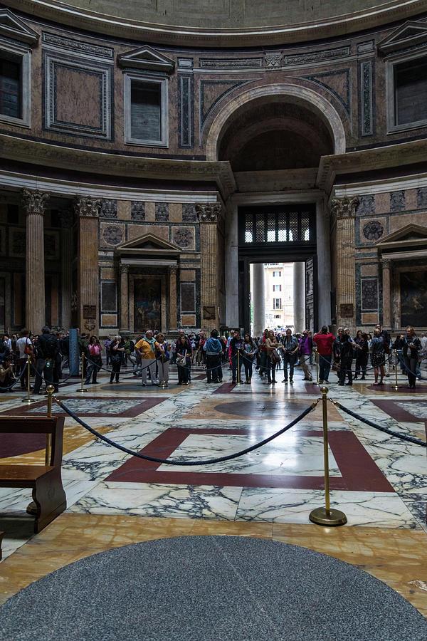 Ready for Rainfall - The Pantheon Interior Cordoned Off by Georgia Mizuleva