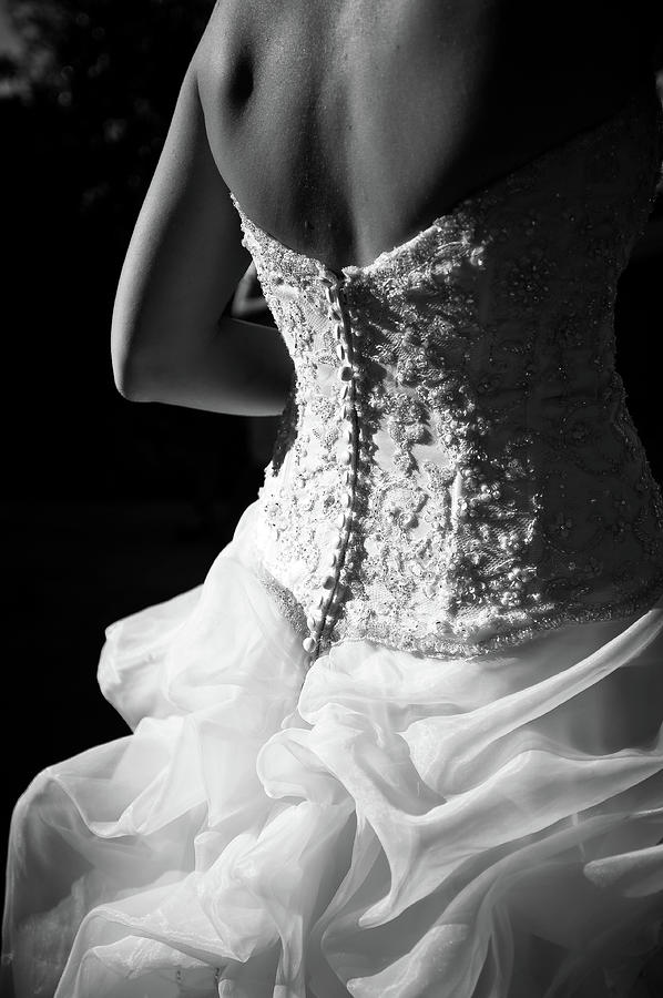 Rear View Of Bride Photograph by John B. Mueller Photography
