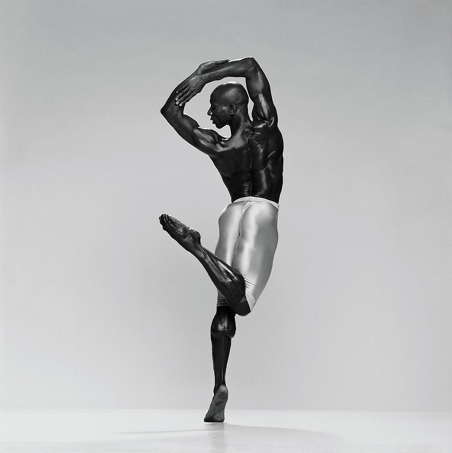 Rear View Of Male Dancer Standing On Photograph by Chris Nash