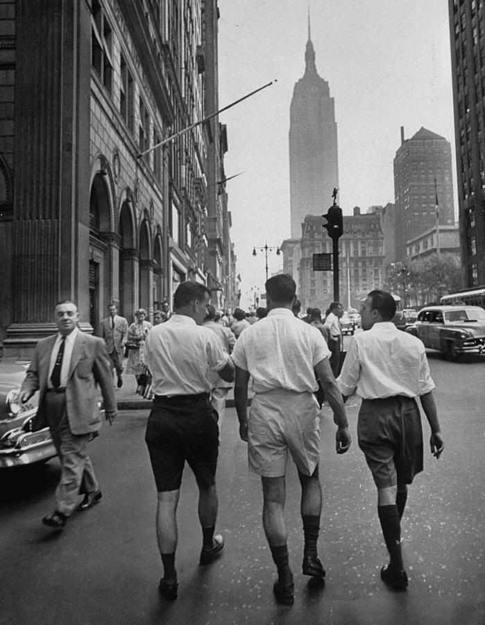 Rear View Of Three Young Businessmen Wea Photograph by Lisa Larsen