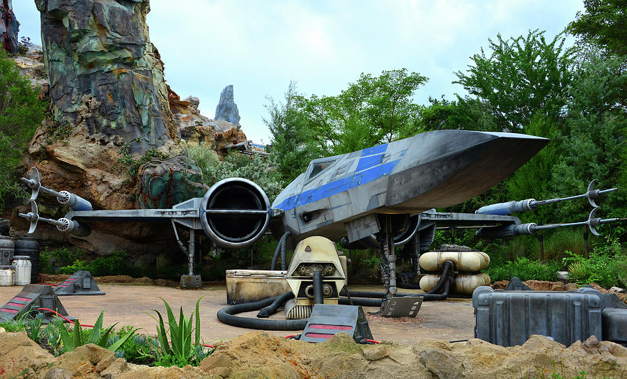 Disney's Hollywood Studios Photograph - Rebel Starfighter Display Black Spire by David Lee Thompson