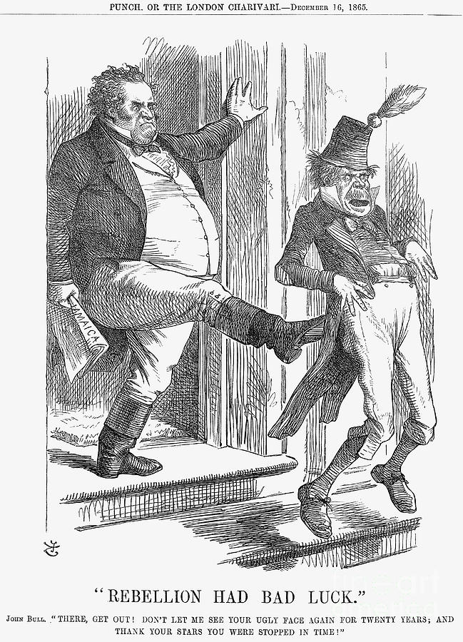 Rebellion Had Bad Luck, 1865. Artist Drawing by Print Collector