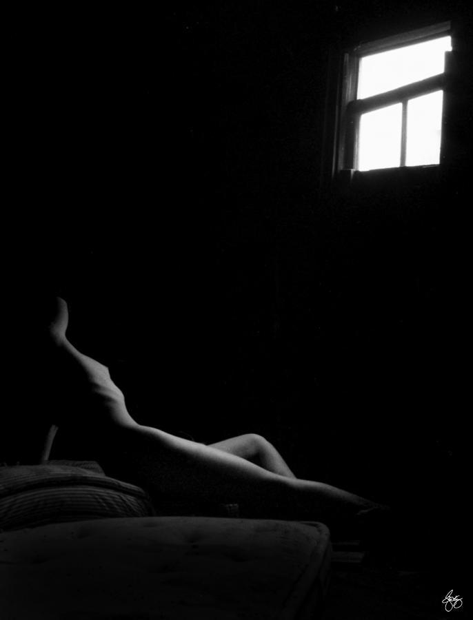 Reclining Nude Monochrome by Wayne King