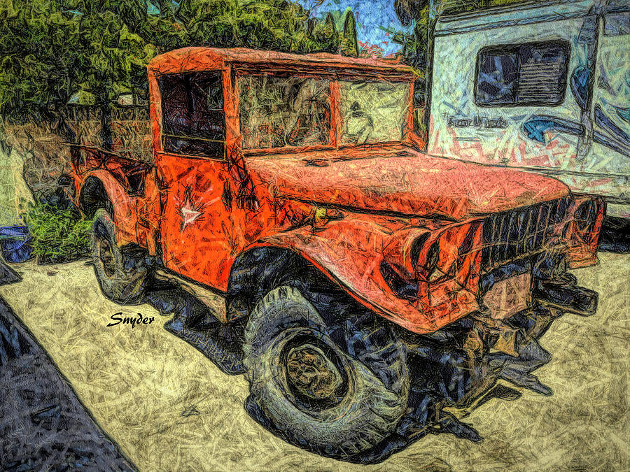 Red 4x4 Profile  by Floyd Snyder