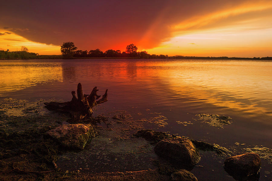 Beaver Lake Photograph - Red  by Aaron J Groen