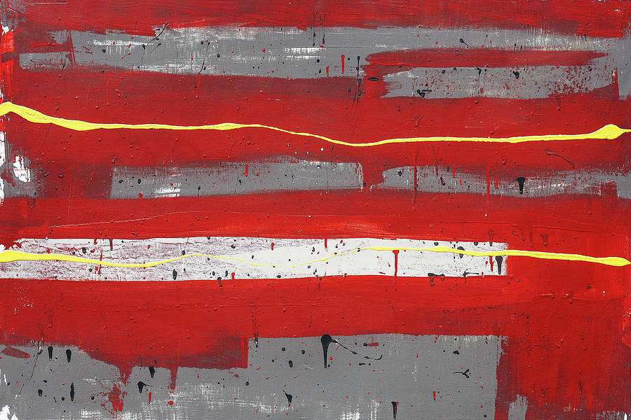 Red Abstract 005 by Rich Franco