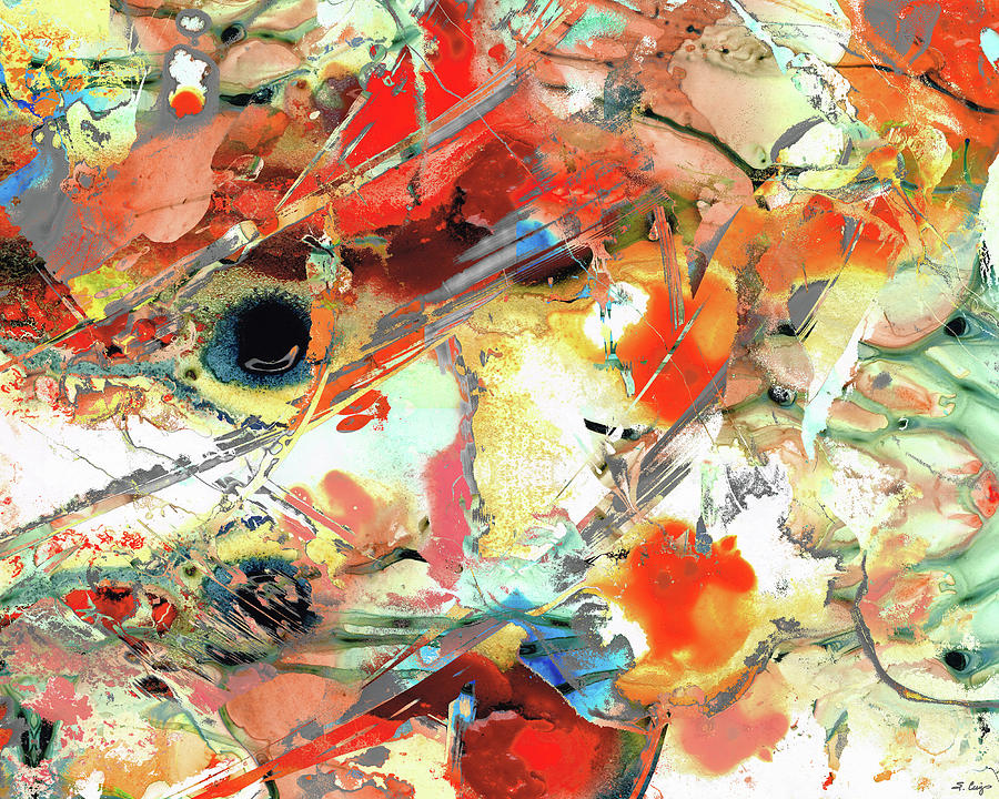 Red Painting - Red Abstract Art - Found Myself - Sharon Cummings by Sharon Cummings
