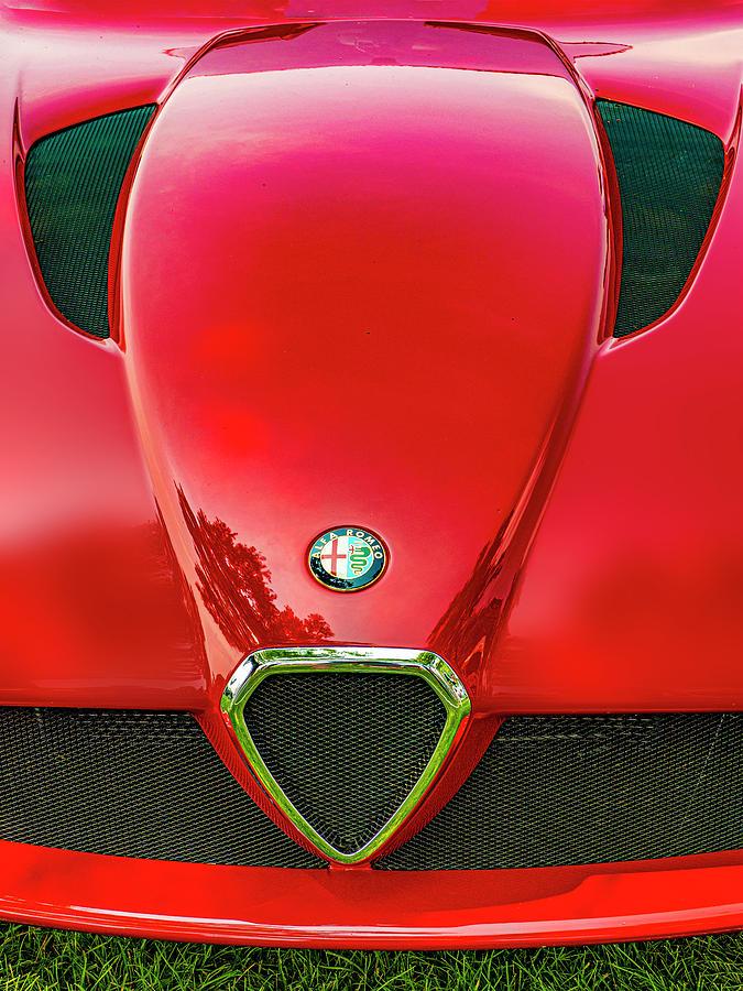 Red Alfa Romeo by Paul Wear