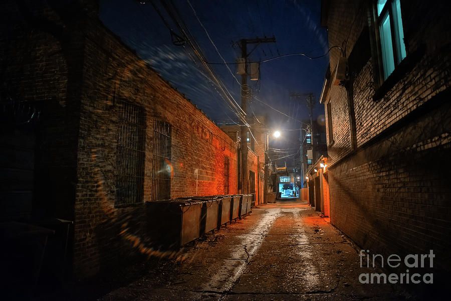 Alley Photograph - Red Alley by Bruno Passigatti