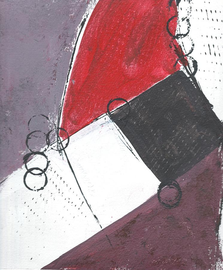 Abstract Painting - Red And Black Study 1 by Christine Chin-Fook