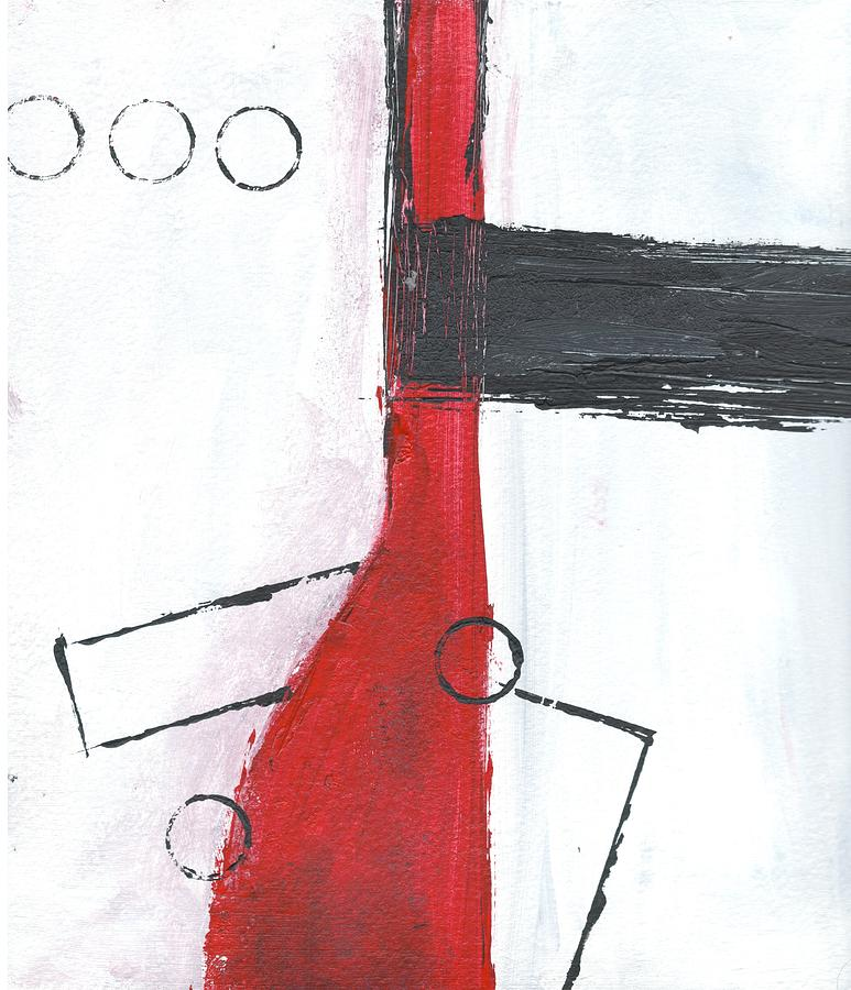 Abstract Painting - Red And Black Study 2 by Christine Chin-Fook