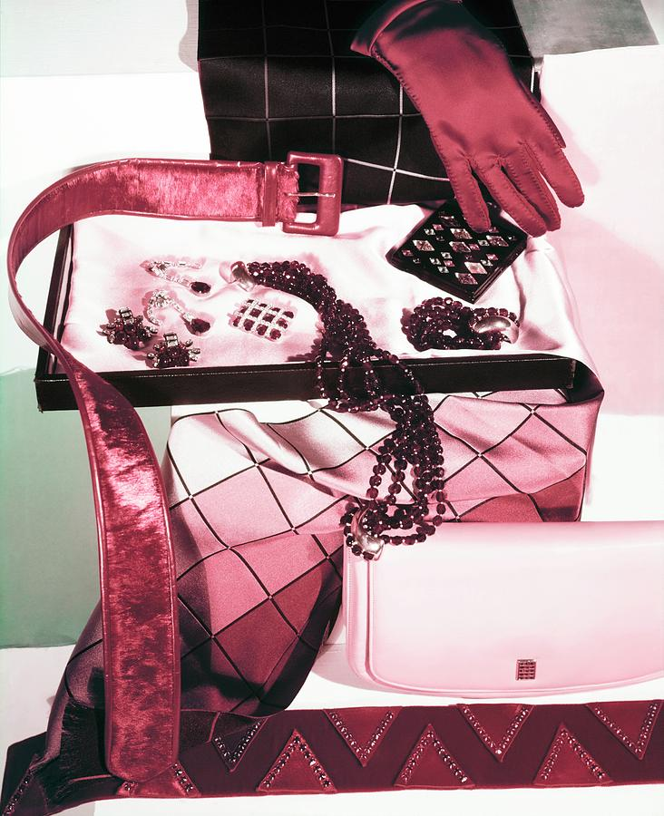 Red And Pink Accessories Photograph by Horst P. Horst