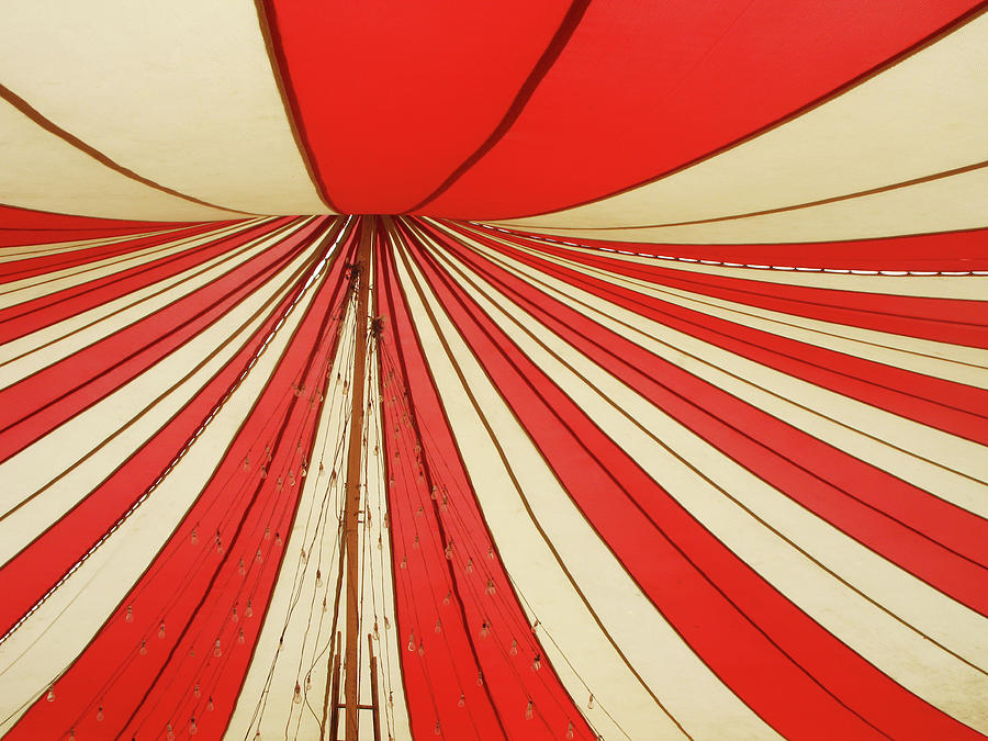 Red And White Canopy Photograph by Danishkhan