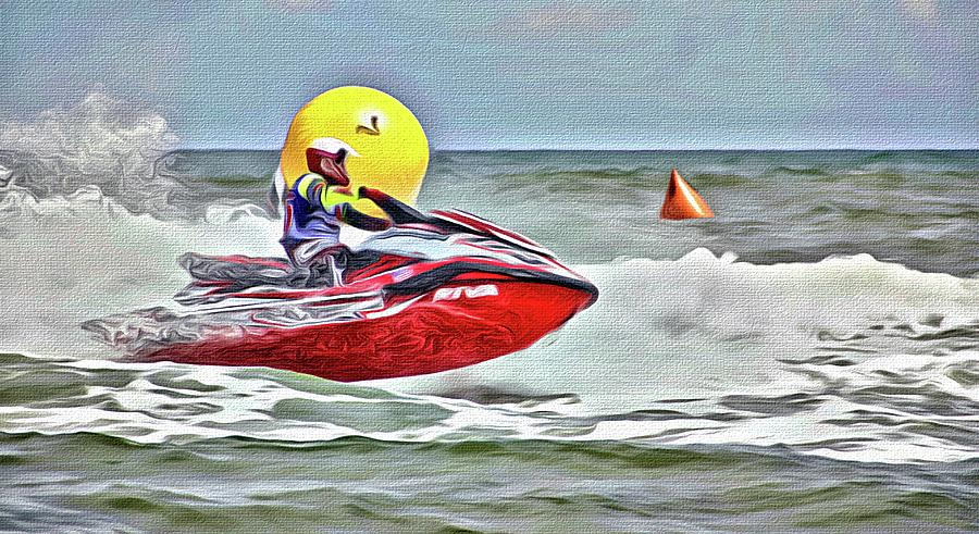 Red And Yellow at Aqua Cross by Alice Gipson