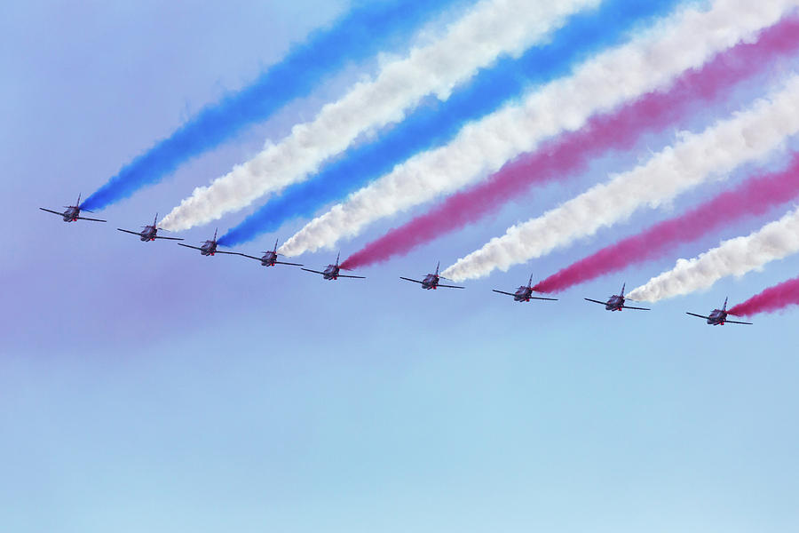 Red Arrows Smoke Formation Photograph