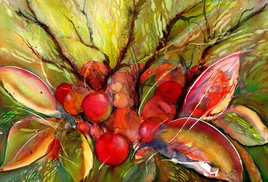 Red Autumn Berries by Sabina Von Arx