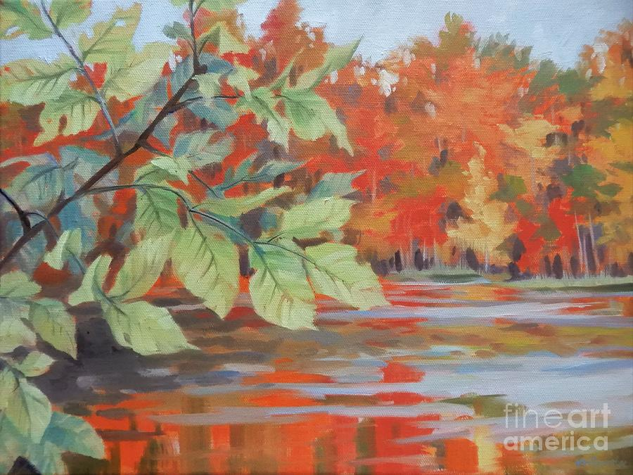 Red Autumn Painting