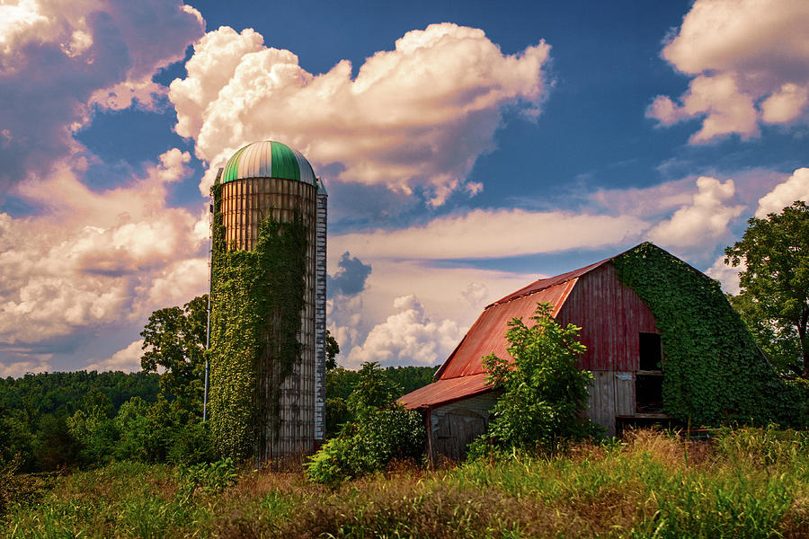 Red Barn and Silo by Robert FERD Frank