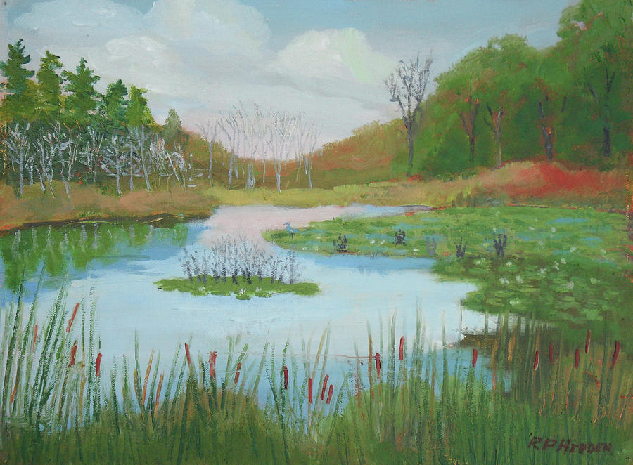 Red Barn Beaver Pond by Robert P Hedden