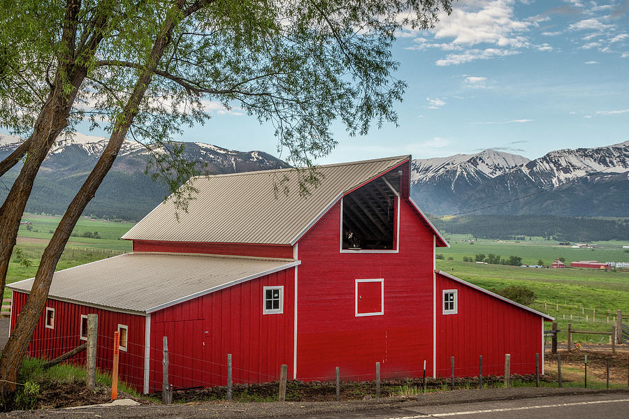 Red Barn by the Road by Matthew Irvin