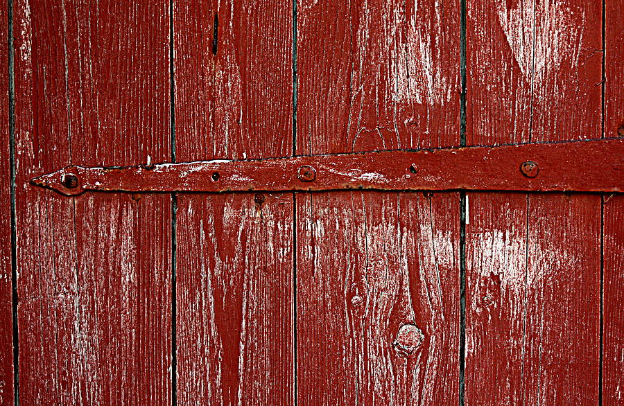 Red Barn Door by Sannel Larson