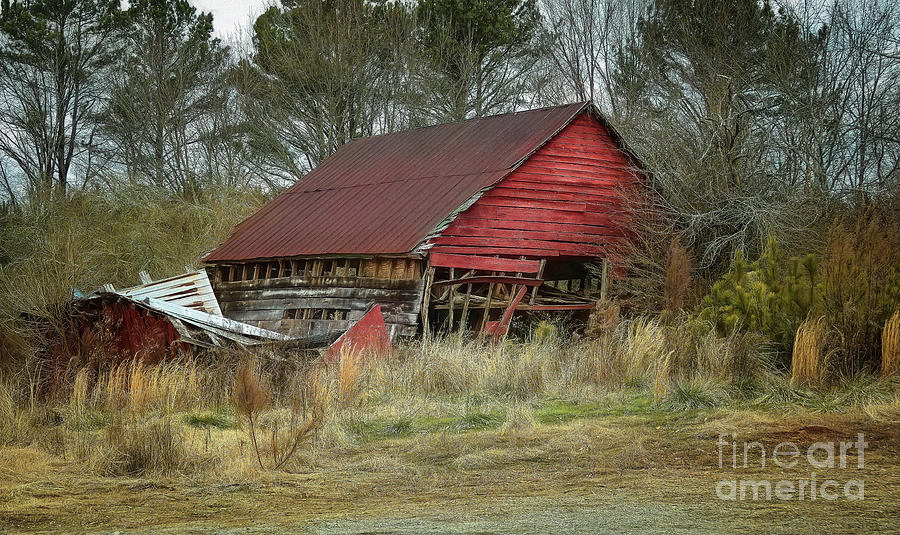 Home Decor Digital Art - Red Barn by Elijah Knight