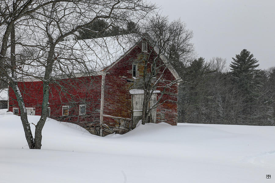 Red Barn--New Sharon by John Meader