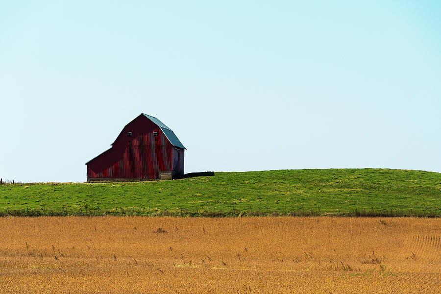 Red Barn on a Hill by Edward Peterson