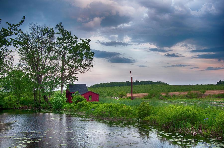 Red Barn Sunset by Joann Vitali