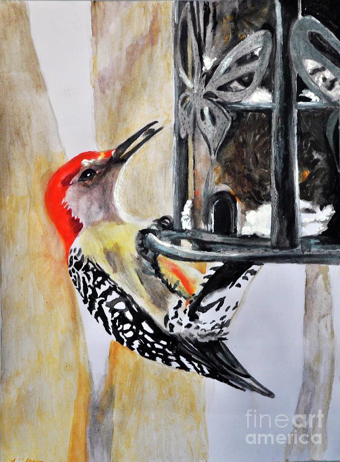 Red Bellied Woodpecker by Lori Moon