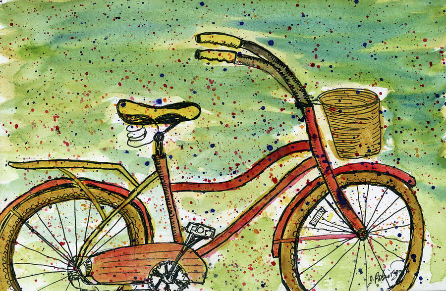 Red Bicycle Yellow Seat by Judy Robinson