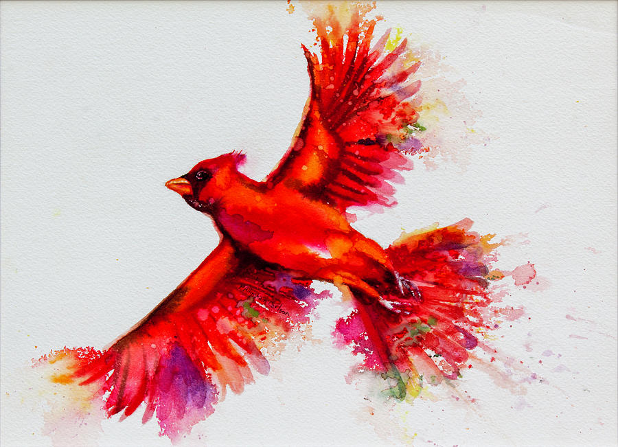 Cardinal Painting - Red Bird by Patricia Allingham Carlson