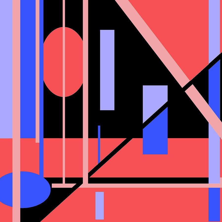Red Black 012 by Elastic Pixels