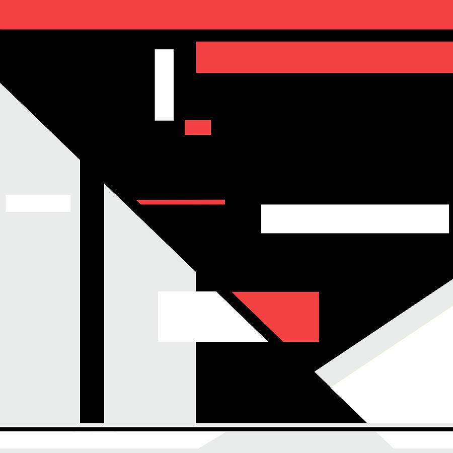 Red Black 014 by Elastic Pixels